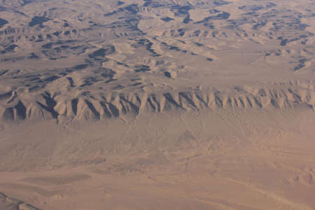 aereal: Oman desert, aereal view. View from the top of the omani Desert landscape