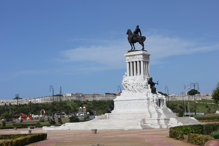 maximo: Havana, Cuba, August 9, 2012: Statue of General Máximo Gómez.In downtown Havana, on a large traffic island overlooking the mouth of the harbor, there is this amazing statue. Gómez was a war hero from the Dominican Republic who fought tirelessly for Cub