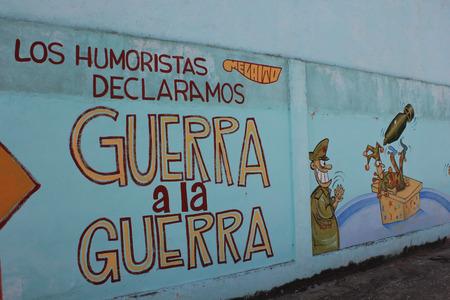 Mural Humoristas against war, Santa Clara, Cuba.