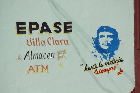 che guevara: Santa Clara, Cuba, August 20, 2012: Cubas politic propaganda. A wall script in favour of the revolution. Editorial
