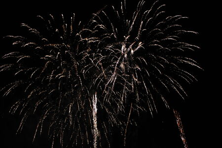 aerial bomb: The power of Fireworks, Florence, Tuscany