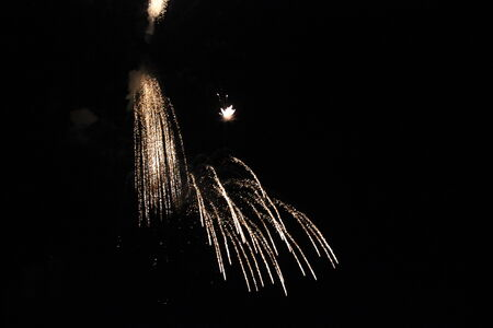 The Power of Fireworks Image taken during festival for the end of the summer in Tuscany, Italy photo