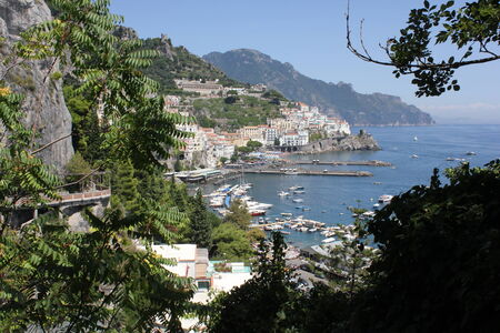 Amalfi, Italy: Amalfi Coast. The Amalfi Coast (Italian: Costiera Amalfitana) is a stretch of coastline on the southern coast of the Sorrentine Peninsula in the Province of Salerno in Southern Italy
