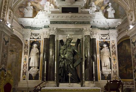아말피, 이탈리아, 2014 년 8 월 11 일 : 아말피 성당, 세인트 앤드류의 크립트, 성자 에디토리얼