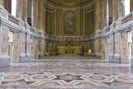 palatine: Caserta, Italy, August 14, 2014: Royal Palatine Chapel, projected by Italian Architect Luigi Vanvitelli in late 1700 Editorial