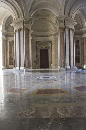 palatine: Caserta, Italy, August 14, 2014: Royal Palatine Chapel, entrance foyer. It has been  projected by Italian Architect Luigi Vanvitelli in late 1700