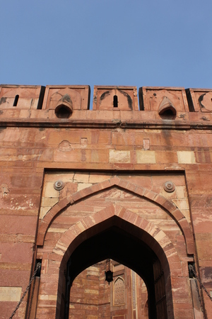 accurately: Agra, India: Agra Fort, an UNESCO World Heritage site located in Agra, Uttar Pradesh, India.The fort can be more accurately described as a walled city. Editorial