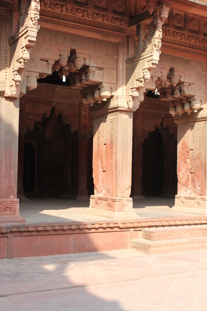 uttar pradesh: Agra, India: Agra Fort, an UNESCO World Heritage site located in Agra, Uttar Pradesh, India.The fort can be more accurately described as a walled city Editorial