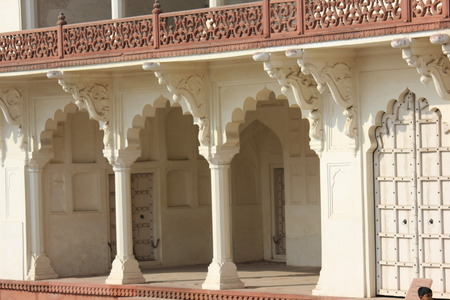 uttar pradesh: Agra, India. Agra Fort. The Agra Fort is an UNESCO World Heritage site located in Agra, Uttar Pradesh, India.The fort can be more accurately described as a walled city