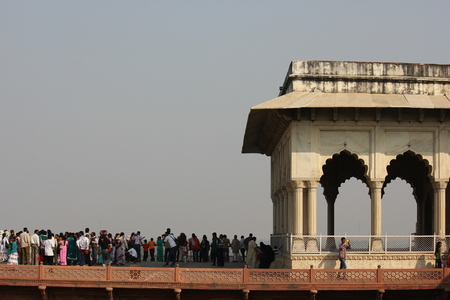 accurately: Agra, India. Agra Fort. The Agra Fort is an UNESCO World Heritage site located in Agra, Uttar Pradesh, India.The fort can be more accurately described as a walled city