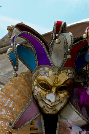carnival masks: Typical Venetian Carnival Masks in a Market in the Veneto Region of Italy Editorial
