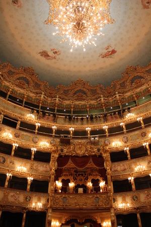 theatre symbol: Venice, Italy: Interior of La Fenice theatre, historical theatre symbol of the city Editorial