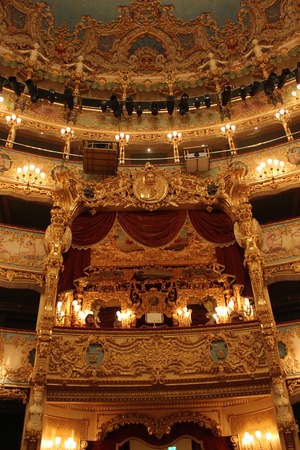 La Fenice, historical theathre of the city of Venice, indoor