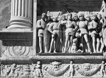 bas: Castel dell Ovo, Naples, Italy, Bas relief detail