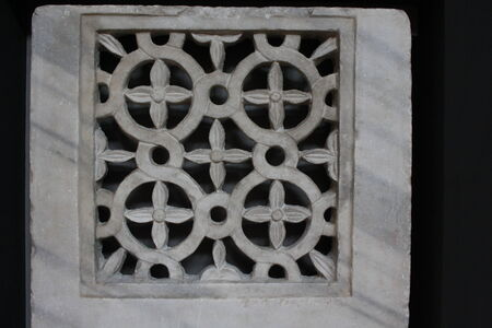 crypt: Amalfi, Italy: Remains of a Marble transenna of the VII century, in the Crypt of Amalfi Duomo, Italy