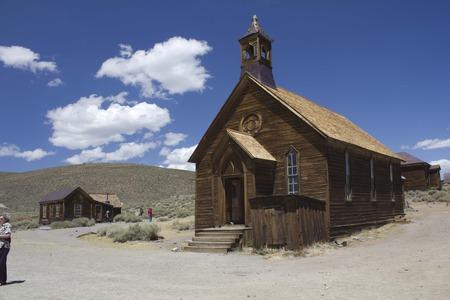 Bodie、カリフォルニア (米国): ボディー ボディーはカリフォルニア、1800 年代後半から元鉱山の町で最高の保存されているゴースト町です。教会詳細