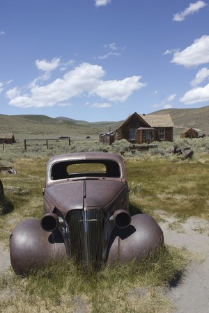 bodie: Bodie, California (USA),  Bodie is the best preserved ghost town in California, an original mining town from the late 1800 Stock Photo
