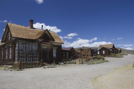 bodie: Bodie, California (USA):  Bodie is the best preserved ghost town in California, an original mining town from the late 1800 Stock Photo