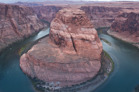 horse shoe: Horse shoe Bend, Colorado River, Page, Arizona (Usa), a fantastic shapes in the ancient sandstone.