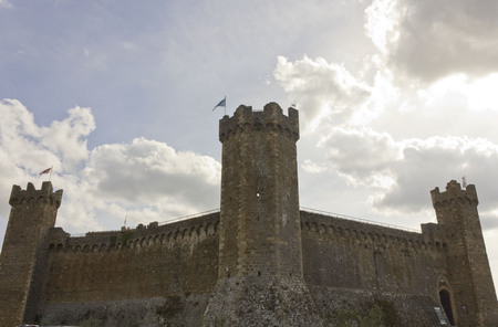 montalcino: Montalcino, Italy: Montalcino Castle, overview. A 1400 Castle in the heart of southern Tuscany Editorial