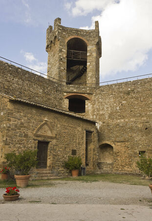 montalcino: Montalcino, Italy, August 25: Inside the Montalcino Castle, ancient fortress symbol of the city