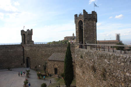 montalcino: Montalcino, Italy: Inside the Montalcino Castle, an ancient building symbol of the city Editorial