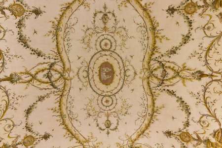 italian fresco: Caserta, Italy: Beautiful ceiling inside the rooms of Reggia di Caserta