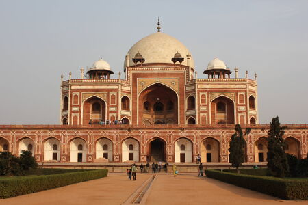 Delhi, India: Humayun s tomb, Architectural detail. The place is the tomb of the Mughal Emperor Humayun.