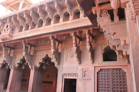 accurately: Agra, India. Agra Fort. The Agra Fort is site located in Agra, Uttar Pradesh, India.The fort can be more accurately described as a walled city.