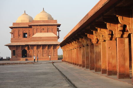 fatehpur: Agra, India: Fatehpur Sikri, a city and a municipal board in Agra district, India. A walled city, UNESCO heritage, one of of the best preserved collections of Indian Mughal architecture in India
