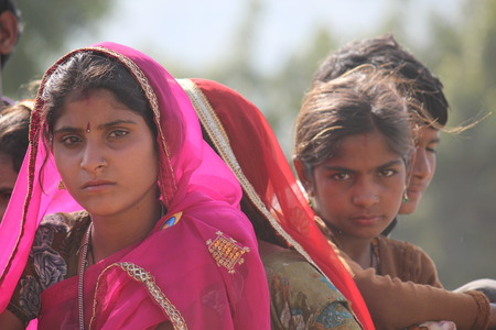 Pushkar, India: Mooi Indisch meisje op de eerlijke Pushkar, in de Indiase deelstaat Rajasthan