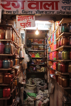 suq: JAIPUR, INDIA: Indian souq at night, full of stands with fashion accesories and Indian typical products