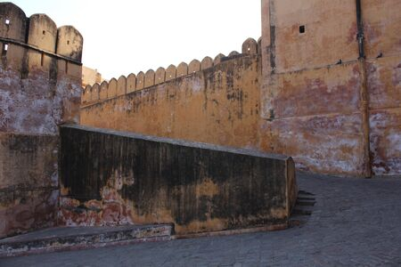 amber fort: JAIPUR, INDIA : Entrance of Amber Fort, the main touristic attraction in Jaipur