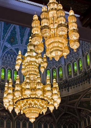 sultan: The Sultan Qaboos Grand Mosque chandelier, Muscat, Oman Stock Photo