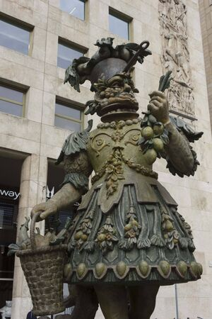 MILAN, ITALY - APRIL 8 2014: Arcimboldo sculptures by Dante Ferretti, a symboll of Milan 2015 Expo in the street