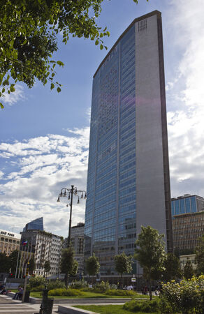 pirelli: MILAN - ITALY, MAY 27 2014: Pirelli skyscraper building in Milan, architecture in a sunny day