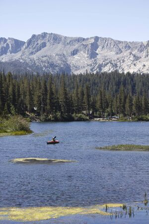 mammoth lakes: MAMMOTH LAKES, USA - AUGUST 9: Landscape of Mammoth Lake, a scenic nature land in California, on August 9 2013