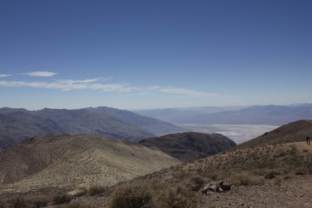 viewpoint: FURNACE CREEK, USA - August 8 2013: Landcsape View of Death Valley National Park from Dantes view viewpoint