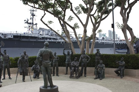 daub: SAN DIEGO, USA - AUGUST 19 2013: National Salute to Bob Hope & the Military by Eugene Daub & Steven Whyte on San Diego Harbour