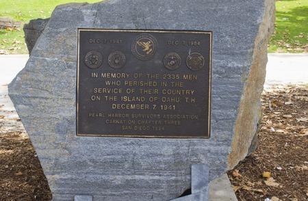 memorial: SAN DIEGO, USA - AUGUST 19 2013: Pearl Harbor Memorial in San Diego Marina, Usa Editorial