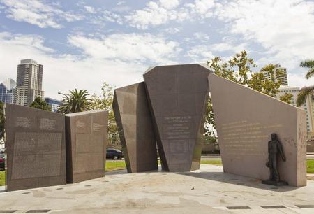 daub: SAN DIEGO, USA . AUGUST 19 2013: U.S.S. San Diego (CL-53) Memorial by Eugene Daub and Louis Quaintance