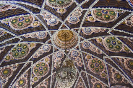 octagon: REGGELLO, ITALY - MAY 2 2015: Close up detail of the ceiling of the Octagon Room in Sammezzano Castle in Italy