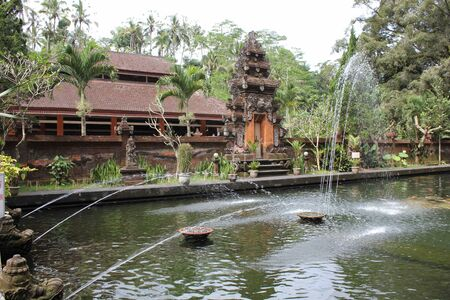 spiritual architecture: Entrance of Sacred Fountains of Tirta Empul site, Indonesia