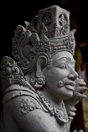 balinese: Close up portrait of a typical balinese statue