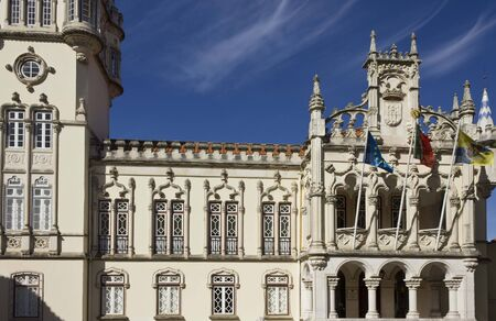town hall: SINTRA, PORTUGAl - OCTOBER 25 2014: Sintra Town Hall building, Portugal Editorial