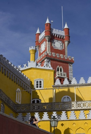 the pena national palace: Pena National Palace in Sintra, Portugal, architectural close up