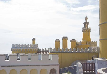patrimony: Sintra Nacional Palace from its terrace, Portugal