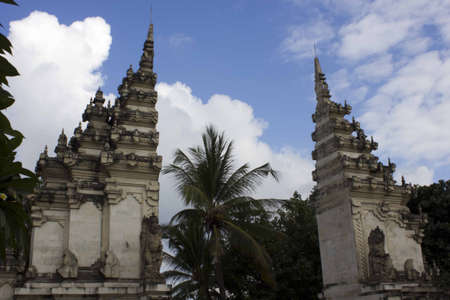 main gate: BALI, INDONESIA - JULY 13 2012: Kuta Beach main Gate inBali, Indonesia