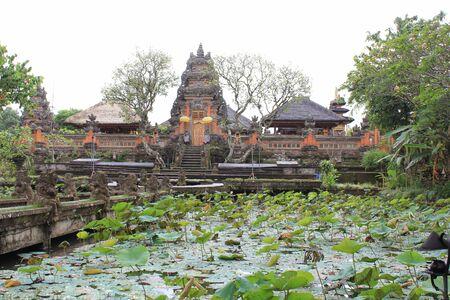 saraswati: BALI, INDONESIA - JULY 6 2012: Bali Saraswati Temple in Bali, Ubud region, Indonesia, in a dull day