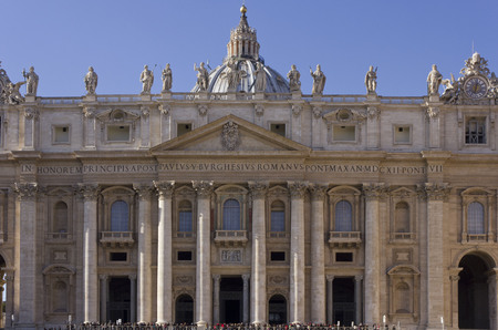 december 31: VATICAN CITY, ITALY - DECEMBER 31 2014: St.Peters Basilica in St.Peter Square, Rome Editorial